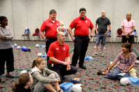 EMS CPR Training at Tallahassee Fitness Festival - January 26, 2013